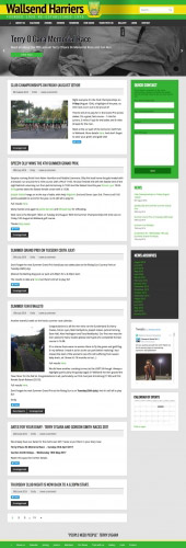 Wallsend Harriers Web Design