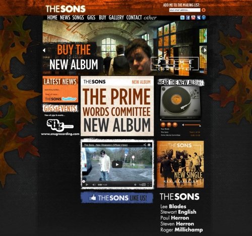 The Sons Band Website