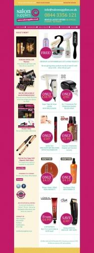 Salon Supplies Email Design
