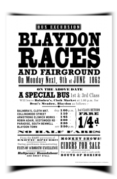 Blaydon Races Poster - Small