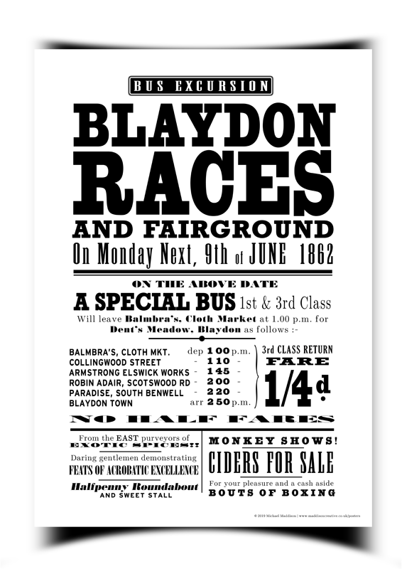 Blaydon Races Poster - Small