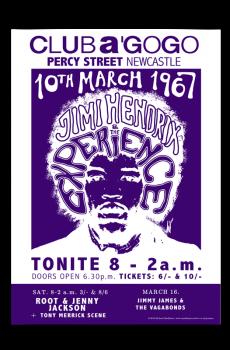 Jimi Hendrix Newcastle Poster