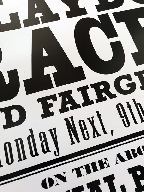 Blaydon Races Poster super close up