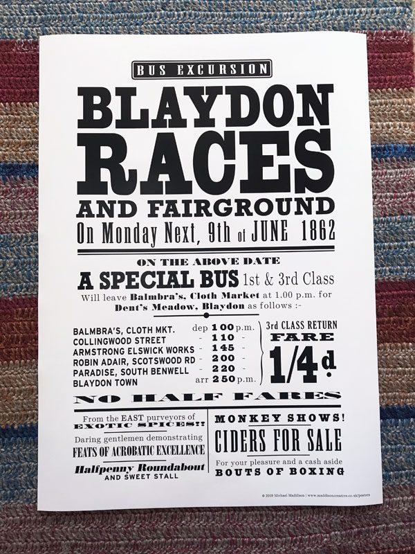Blaydon Races Poster
