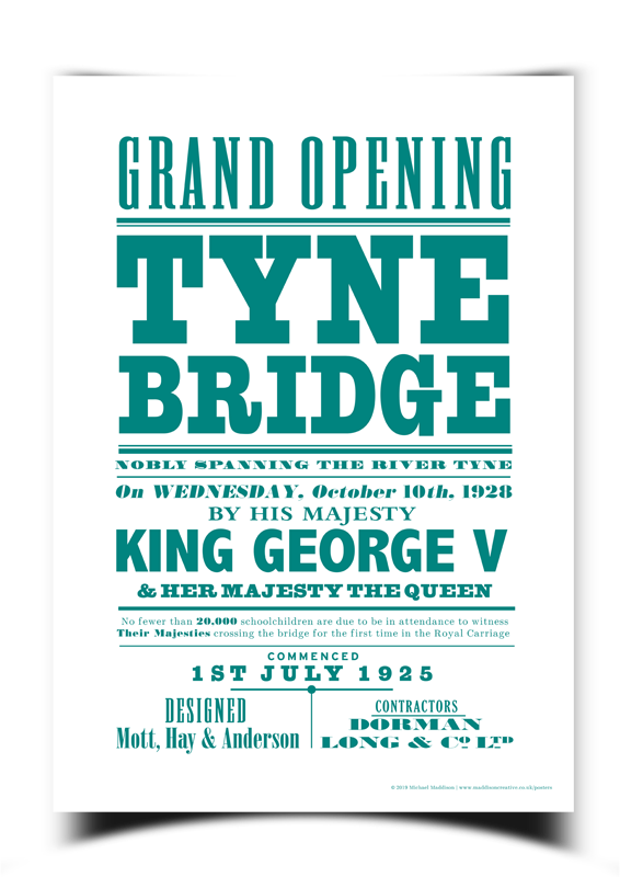 Tyne Bridge Poster | Maddison Creative