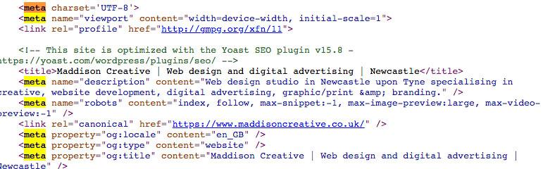 Meta tags - Meta keywords - Maddison Creative